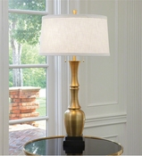 Global Views Bambooesque Lamp-Antique Brass