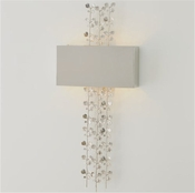 Global Views Bauhinia Sconce-Nickel-HardWired