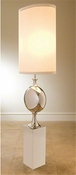 Global Views Big Pill Lamp-Nickel