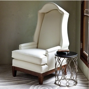 Global Views Bonnet Chair-Muslin-(Naked)