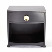 Global Views Bow Front 1 Drawer Chest-Ebony