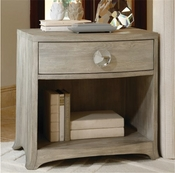 Global Views Bow Front 1 Drawer Chest-Grey