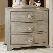 Global Views Bow Front 3 Drawer Chest-Grey