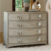 Global Views Bow Front 5 Drawer Dresser-Grey