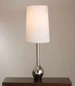 Global Views Bulb Vase Lamp-Nickel