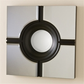 Global Views Bull's Eye Cross Mirror-Black