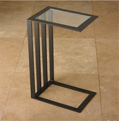 Global Views Canteliever Side Table-Bronze