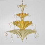 Global Views Chinoise Chandelier-Brass