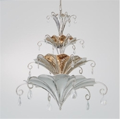 Global Views Chinoise Chandelier-Nickel