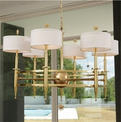 Global Views Classic Star Arm Chandelier-Brass