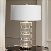 Global Views Clear Belted Lamp