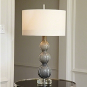 Global Views Cloud Lamp-Dark Grey