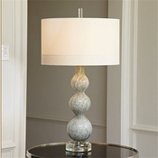 Global Views Cloud Lamp-Light Grey