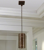 Global Views Coil Single Pendant-Bronze Finish