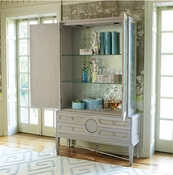 Global Views Collector's Cabinet-Grey/Top Only