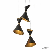 Global Views Cone Brass Pendant