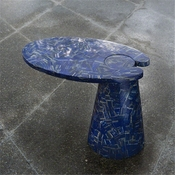 Global Views Cone Cantilever Table-Lapis Lazuli