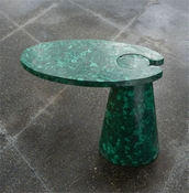 Global Views Cone Cantilever Table-Malachite