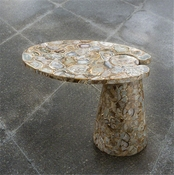 Global Views Cone Cantilever Table-Natural Agate
