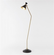 Global Views Cone Floor Lamp-Bronze/Brass