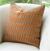 Global Views Copper Rain Drops Pillow