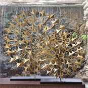 Global Views Cosmos Sculpture Gold-Large
