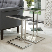 Global Views Cozy Up Table-Stainless Steel Finish-Large