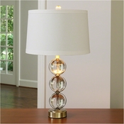 Global Views Crystal Ball Lamp-Antique Brass