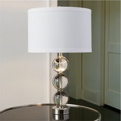 Global Views Crystal Ball Lamp-Nickel