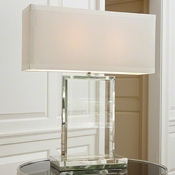 Global Views Crystal Slab Lamp