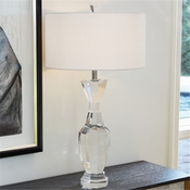 Global Views Crystal Urn Lamp-Clear