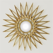 Global Views Dahlia Mirror-Brass-Large