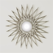 Global Views Dahlia Mirror-Nickel-Large