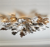 Global Views Dancing Leaves Ceiling Fixture-Nickel
