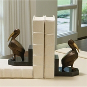 Global Views Deco Pelican Bookends - Pair