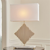 Global Views Diamond Rods Lamp-Brass