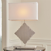 Global Views Diamond Rods Lamp-Nickel