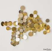 Global Views Dot Wall Decor-Brass/Gold