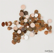 Global Views Dot Wall Decor-Copper