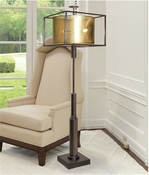 Global Views Double Shade Floor Lamp