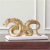 Global Views Dragon-Gold Leaf