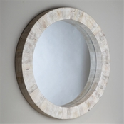 Global Views Driftwood Round Mirror
