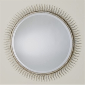 Global Views Eclipse Mirror-Silver Leaf-Large
