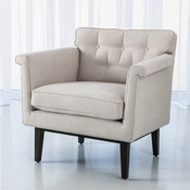 Global Views Emerywood Chair-Suede-Arctic