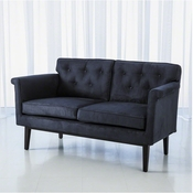 Global Views Emerywood Loveseat-D'oro Suede-Ink