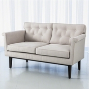 Global Views Emerywood Loveseat-Suede-Arctic