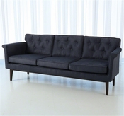Global Views Emerywood Sofa-D'oro Suede-Ink