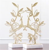 Global Views Enchanted Forest Sculpture-Brass-Each