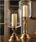 Global Views Estate Hurricane-Antique Brass-Tall (Right)