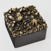 Global Views Facet Cluster Box Top-Bronze/Black